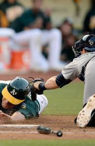 Mike's first play at the plate   Thearon W. Henderson, Getty Images
