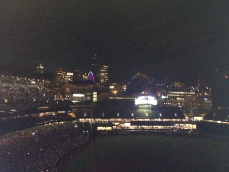 the night the lights went out at Safeco. . .