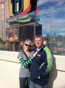 Rockin' the colors and reppin' our Hawks in SinCity