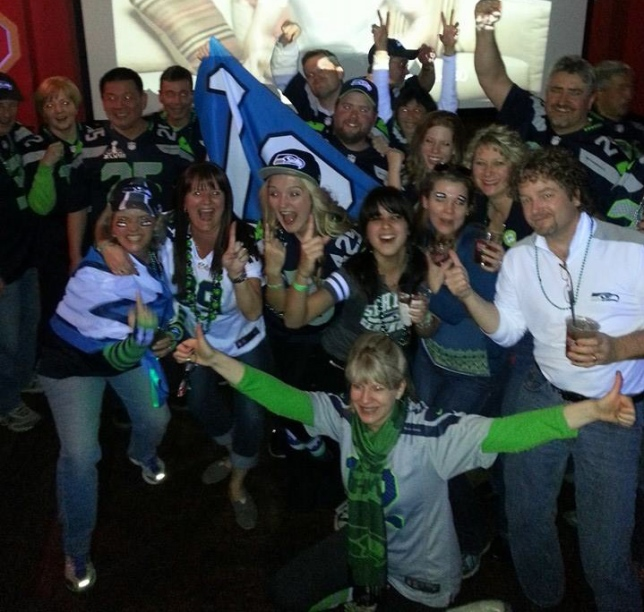 Happy 12s after the 43-8 victory viewed from Senior Frogs in LasVegas