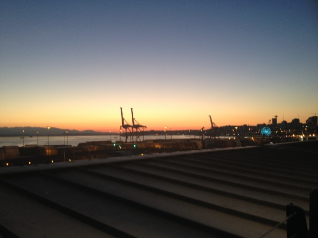 a Happy Seattle Safeco Summer Sunset